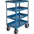 Kleton - MN155 - Knocked-Down Shelf Carts - 4-Shelf Utility Trucks  - Steel - 4 Shelves - Capacity 900 lb - 24 x 48 x 52 - Unit Price