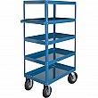 Kleton - MN161 - Knocked-Down Shelf Carts - 5-Shelf Utility Trucks  - Steel - 5 Shelves - Capacity 900 lb - 24 x 36 x 65 - Unit Price