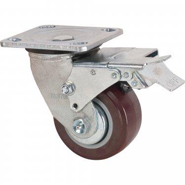 Kleton - MN264 - Caster - Polyurethane - Swivel with Brake - Capacity 550 lbs. (249 kg.) - Brown - 4 (102 mm) - Unit Price