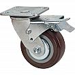 Kleton - MN265 - Caster - Polyurethane - Swivel with Brake - Capacity 650 lbs. (294 kg.) - Brown - 5 (127 mm) - Unit Price