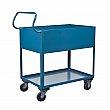 Kleton - MN394 - Deep Lipped Service Cart  - Steel - 2 Shelves - Capacity 1200 lb - 24 x 36 x 47 - Unit Price