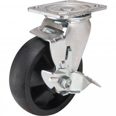 Kleton - MN453 - Hi-Temp Caster - Nylon - Swivel with Brake - Capacity 800 lb (363 kg) - Black - 6 (152 mm) - Unit Price