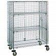 Metropolitan Wire - RL408 - Security Carts  - Chrome Plated - 4 Shelves - Capacity 500 lb - 21-1/2 x 38-1/2 x 68-1/2 - Unit Price