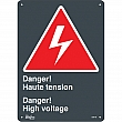 Zenith Safety Products - SGM746 - Haute Tension/High Voltage Sign Each