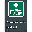 Zenith Safety Products - SGM780 - Premier Soins/First Aid Sign Each