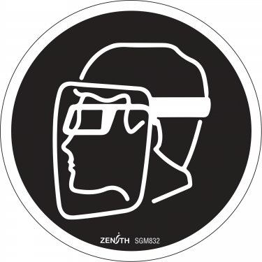 Zenith Safety Products - SGM832 - Face Protection Required CSA Safety Sign Each