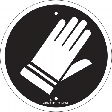 Zenith Safety Products - SGM851 - Hand Protection Required CSA Safety Sign Each