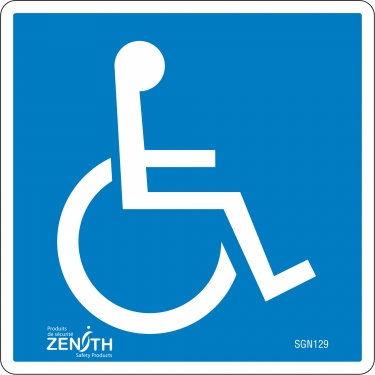 Zenith Safety Products - SGN129 - Handicap CSA Safety Sign Each