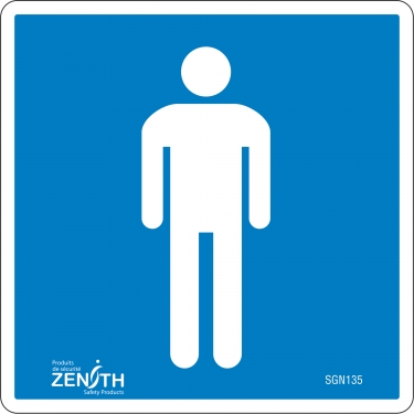 Zenith Safety Products - SGN135 - Men CSA Safety Sign Each