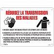 Zenith Safety Products - SGU380 - Réduisez la transmission des maladies Sign Each