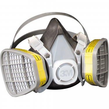 3M - 5203 - Maintenance-Free Gas & Vapour Respirators - Medium - Unit Price