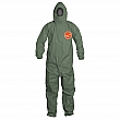 Dupont Personal Protection - QS127TGR4X000400 - Tychem® 2000 SFR Protective Coveralls - FR Treated Fabric - Green - 4X-Large - Unit Price