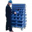 KLETON - CB089 - Mobile Bin Racks - Double Sided - Rack & Bin Combination - 36 x 24 x 63 - 96 Blue Bins - Unit Price