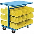 KLETON - CB368 - Bin Carts - Cart & Bin Combination - 24 x 38-1/2 x 36-1/2 - 20 Yellow Bins - Unit Price