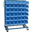 KLETON - CB650 - Mobile Bin Racks - Singled Sided - Rack & Bin Combination - 36 x 16 x 52 - 36 Blue Bins - Unit Price