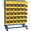 KLETON - CB652 - Mobile Bin Racks - Singled Sided - Rack & Bin Combination - 36 x 16 x 52 - 36 Yellow Bins - Unit Price
