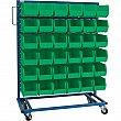 KLETON - CB681 - Mobile Bin Racks - Singled Sided - Rack & Bin Combination - 36 x 16 x 52 - 36 Green Bins - Unit Price