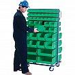 KLETON - CB683 - Mobile Bin Racks - Double Sided - Rack & Bin Combination - 36 x 24 x 63 - 96 Bins - Unit Price