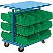 KLETON - CB689 - Bin Carts - Cart & Bin Combination - 24 x 38-1/2 x 36-1/2 - 20 Bins - Unit Price
