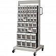 KLETON - CF477 - Mobile Tilt Bin Racks - 26-1/4 x 22 x 57-1/2 - 46 bins on 1 side - Unit Price