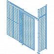Kleton - KD108 - Wire Mesh Partition Components - Sliding Doors