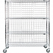 Kleton - RN561 - Enclosed Wire Shelf Cart Each