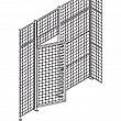 Kleton - RN629 - Heavy-Duty Wire Mesh Partition Swing Door