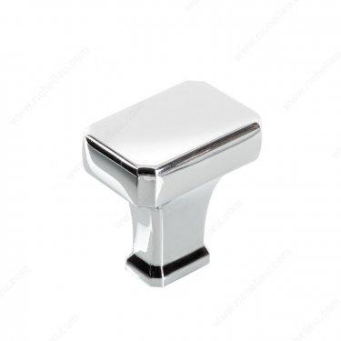 Transitional Metal Knob - 8650 - 20 mm x 20 mm - Chrome  - Unit Price