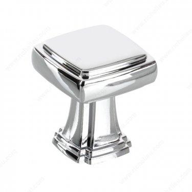 Transitional Metal Knob - 8675 - 28 mm x 28 mm - Chrome  - Unit Price