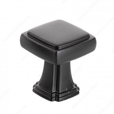 Transitional Metal Knob - 8675 - 28 mm x 28 mm - Matte Black - Unit Price