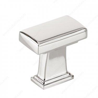 Transitional Metal Knob - BP8695 - 28 mm x 16 mm - Chrome  - Unit Price