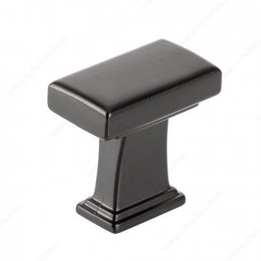 Transitional Metal Knob - BP8695 - 28 mm x 16 mm - Matte Black - Unit Price