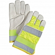 Zenith Safety Products - SED428 - Premium Quality High Visibility Grain Cowhide Fitters Gloves