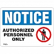 Zenith Safety Products - SGL386 - Authorized Personnel Only Sign Each