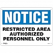 Zenith Safety Products - SGL400 - Authorized Personnel Only Sign Each