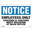 Zenith Safety Products - SGL411 - Employees Only Sign Each