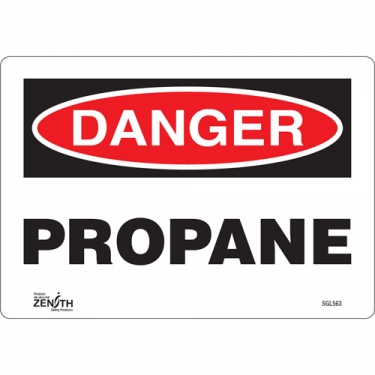 Zenith Safety Products - SGL563 - Propane Sign Each