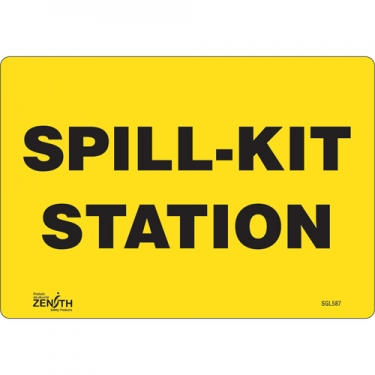 Zenith Safety Products - SGL587 - Spill Kit Station Sign Each