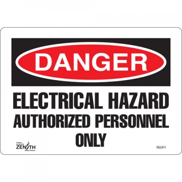 Zenith Safety Products - SGL611 - Authorized Personnel Only Sign Each