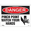 Zenith Safety Products - SGL682 - Pinch Point Sign Each