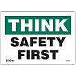 Zenith Safety Products - SGL967 - Safety First Sign Each