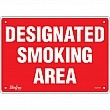 Zenith Safety Products - SGL975 - Designated Smoking Area Sign Each