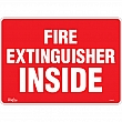 Zenith Safety Products - SGM097 - Fire Extinguisher Inside Sign Each