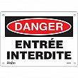 Zenith Safety Products - SGM264 - Entrée Interdite Sign Each