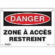 Zenith Safety Products - SGM283 - Zone à Accès Restreint Sign Each
