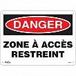 Zenith Safety Products - SGM285 - Zone à Accès Restreint Sign Each