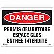Zenith Safety Products - SGM356 - Espace Clos Entrée Interdite Sign Each