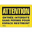 Zenith Safety Products - SGM359 - Entrée Interdite Sans Permis Sign Each