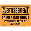 Zenith Safety Products - SGM397 - Danger Électrique Sign Each