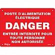 Zenith Safety Products - SGM408 - Poste D'Alimentation Électrique Sign Each